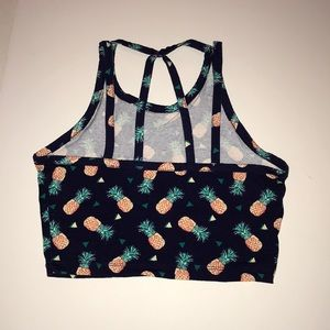 Pineapple cropped tank